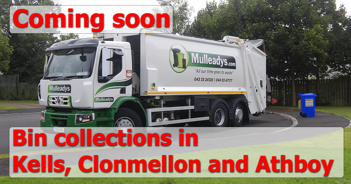 New wheelie bin collection in Kells, Clonmellon and Athboy